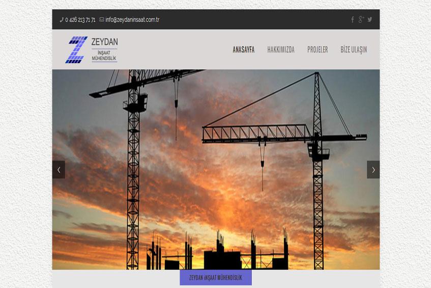 Photo of Zeydan İnşaat Web Sitesi Yayına Alındı