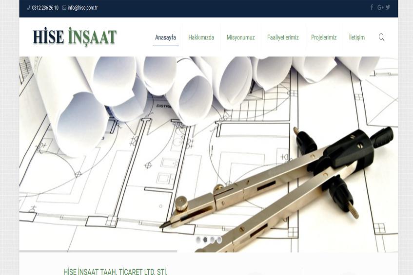 Photo of Hise İnşaat Web Sitesi Yayına Alındı