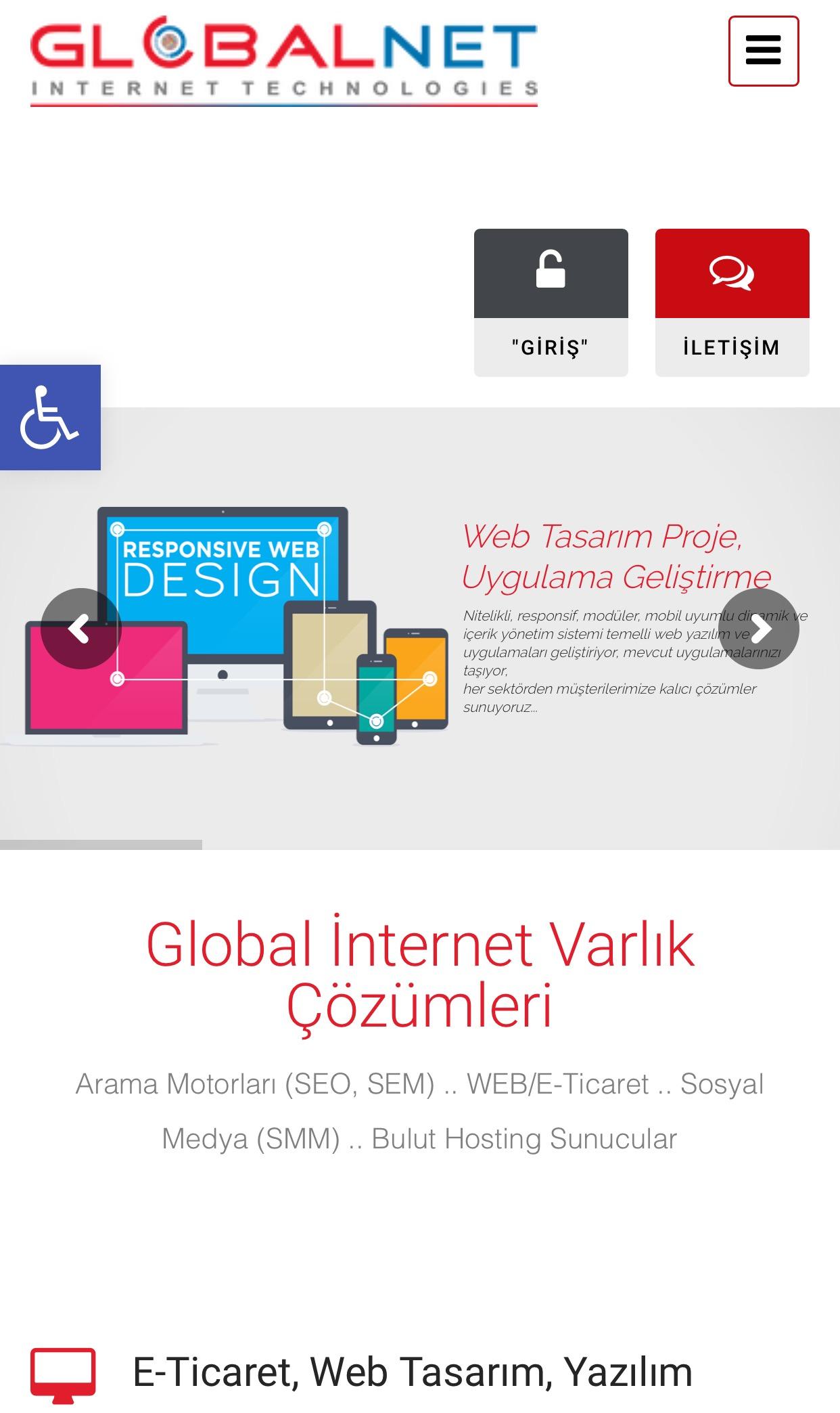 Photo of GLOBALNET WEB SİTESİ ARTIK ENGELSİZ..