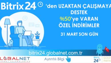 Photo of Bitrix24 ve GLOBALNET Uzaktan Çalışmaya Destek Çözümleri