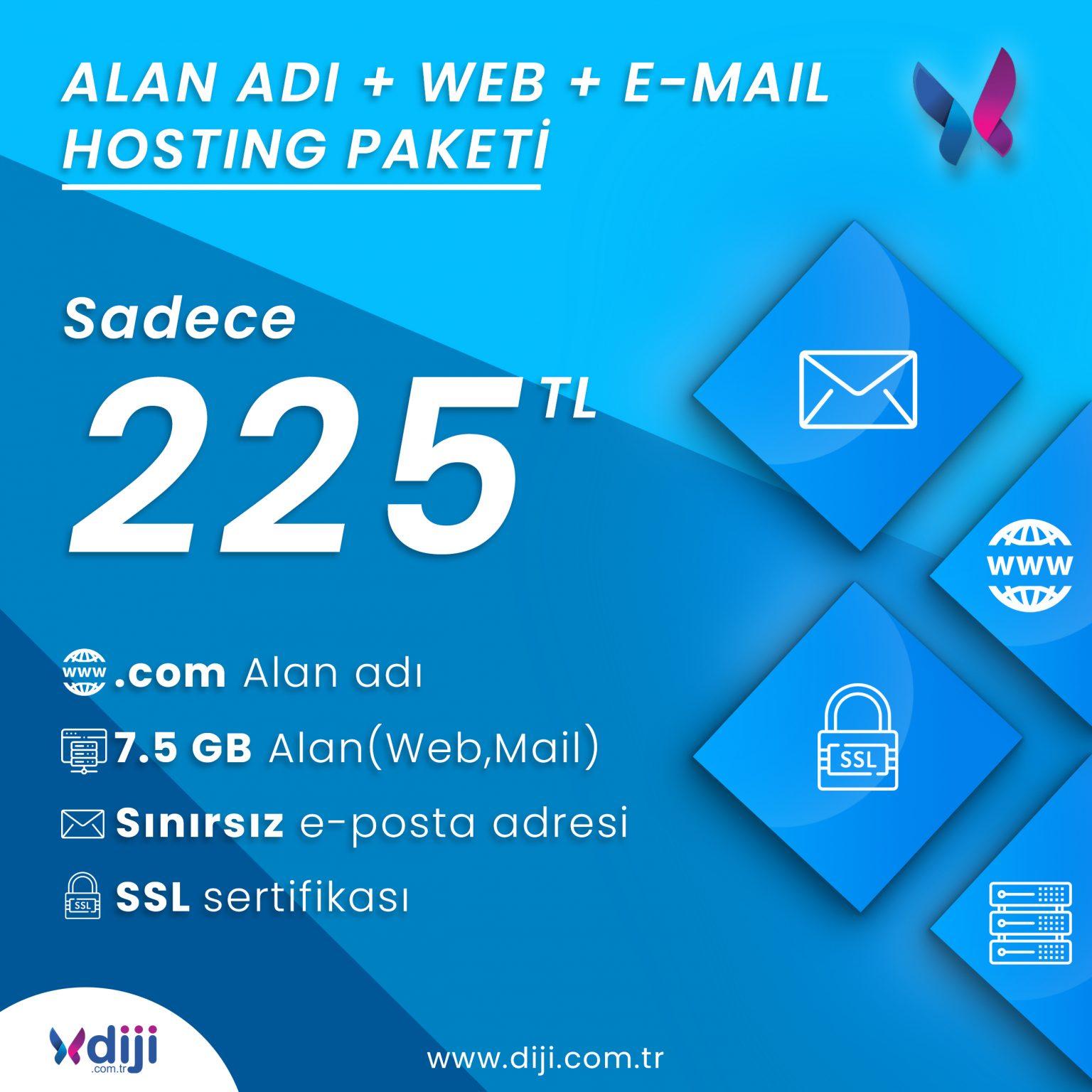 Diji'de Buluşalım : Alan Adı, Web, E-Mail Hosting