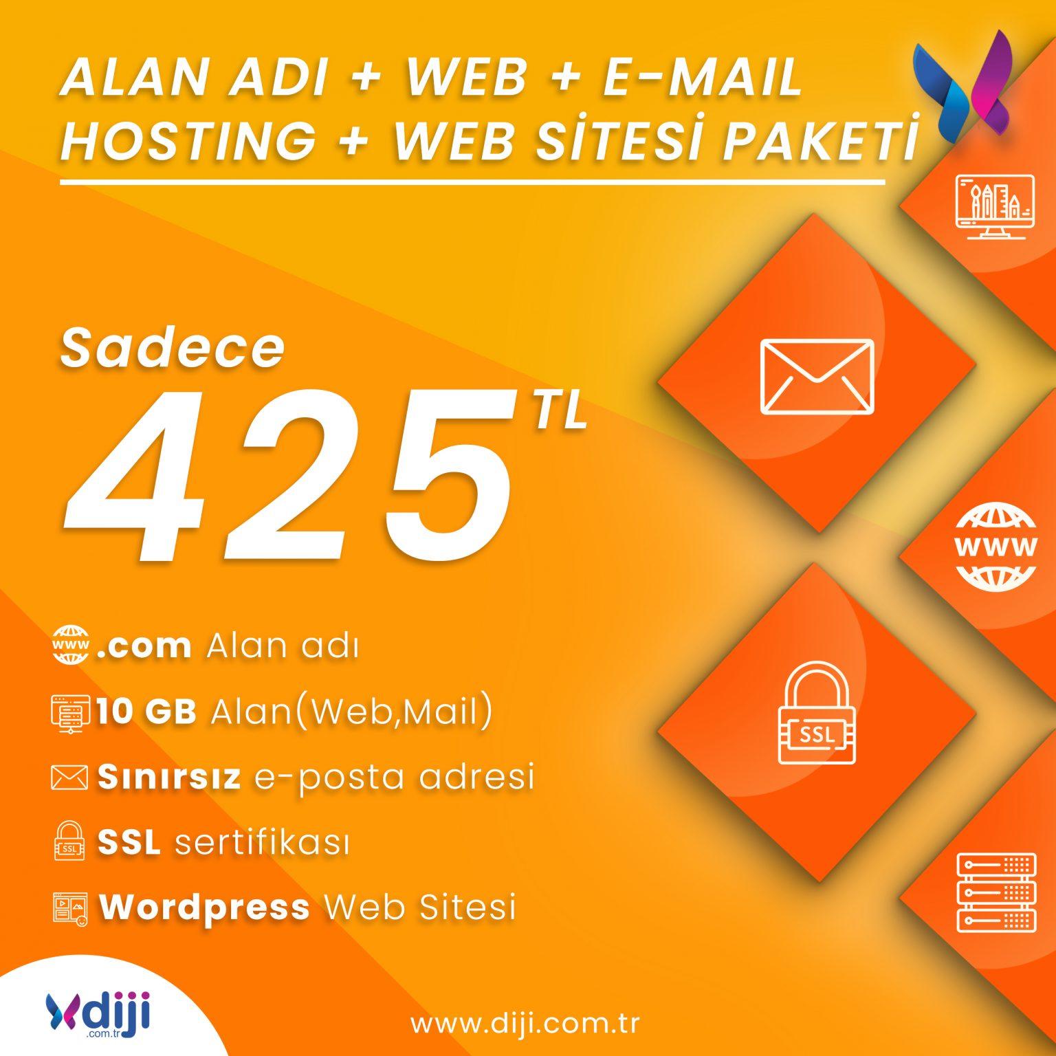 Diji'de Buluşalım : Alan Adı, Web, E-Mail Hosting, Web Sitesi